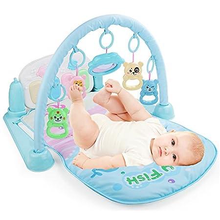 JYSPORT Baby Spieldecke Spielbögen Activity Gym Krabbeldecke animal Plush Spielzeuge Matte