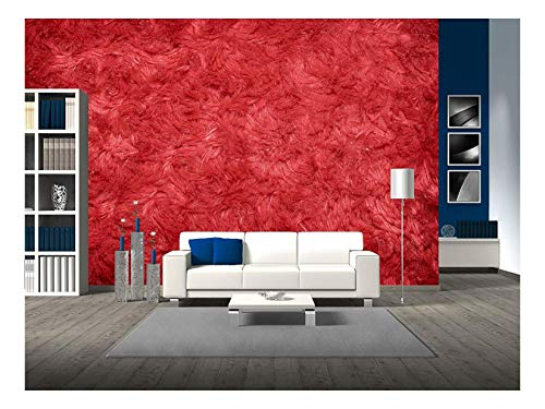 Red Nylon Blank - wall26 - Red Hairy Polyester Texture Background - Removable Wall Mural   Self-Adhesive Large Wallpaper - 100x144 inches