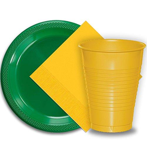 50 Emerald Green Plastic Plates (9