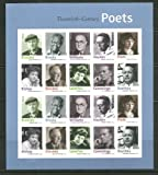 20th Century Poets Sheet of 20 Mint NH US Postage Forever Stamps 4654-63