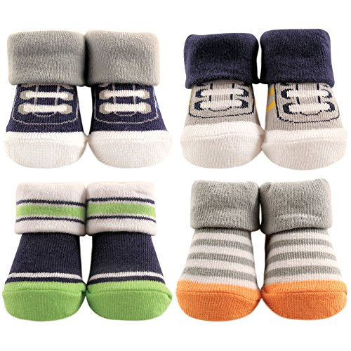 Hudson Baby Sock Set 4-Pair, Athletic, Navy, 0-9 Months