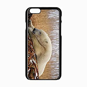 iPhone 6 Black Hardshell Case 4.7inch polar snow sleep Desin Images Protector Back Cover