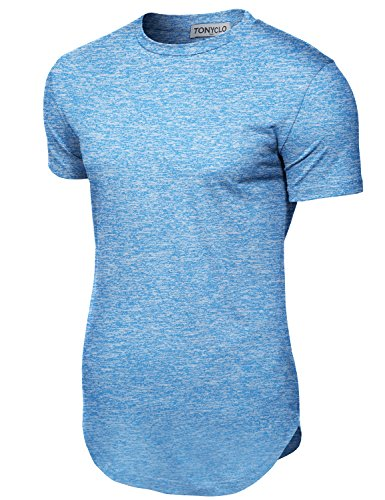 Simple Patterned Fabric Comfortable Soft Shirt Tops,003-blue,Large