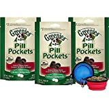Greenies Pill Pocket Tablet Dog Hickory Smoke Flavored Dog Treats Bundle Pack (3 6) Hotspot Pets Collapsible Travel Bowl (3 Pack)
