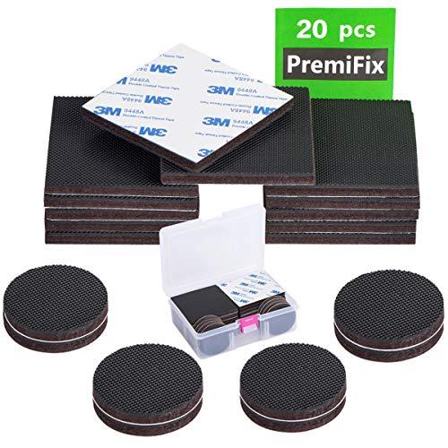 Anti Slip Furniture Rubber Pads 20pcs Non Slip Furniture Pads Hardwood Sofa Bed Stopper Self Adhesive 12pcs 3