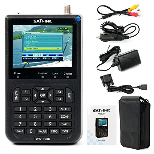 SATlink WS-6906 3.5 - Inch DVB-S FTA Data Digital Satellite Signal Finder (Directv Satellite Meter)