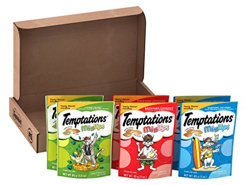 TEMPTATIONS Mix Ups Flavors for Cats Feline 3 oz. (6-Pouch Variety Pack)
