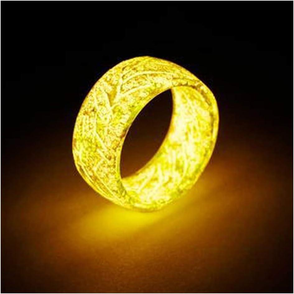 Rouge FZAY Bague lumineuse lumineuse lumineuse lumineuse dans le noir Bijoux de d/écoration unisexe pour femme et homme 10