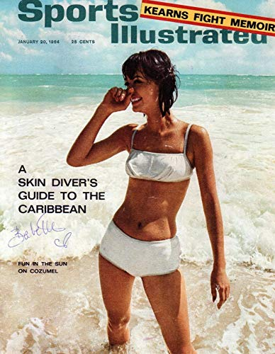 (Babette March REAL hand SIGNED 1st Sports Illustrated Swimsuit Cover Photo 1 COA )