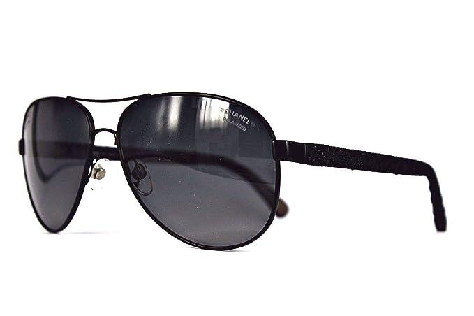 Chanel - Gafas de sol - para hombre Negro negro: Amazon.es ...