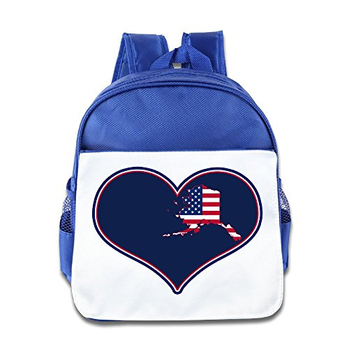 Logon 8 I Love USA Alaska Flag Cute Baby Boys Girls Tollder School Hiking Backpacks Bags - Kids Fort Myers With