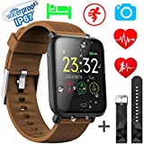 Xenzy Waterproof Smart Watch for Men Women Fitness Tracker with Heart Rate Monitor Blood Pressure Calorie Pedometer Sleep Sport Activity Tracker Swimming Wristband Health Smart Watch for Android iOS