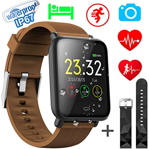 Xenzy Waterproof Smart Watch Men Women Fitness Tracker Heart Rate Monitor Blood Pressure Calorie Pedometer Sleep Sport Activity Tracker Swimming Wristband Health Smart Watch Android iOS by Xenzy