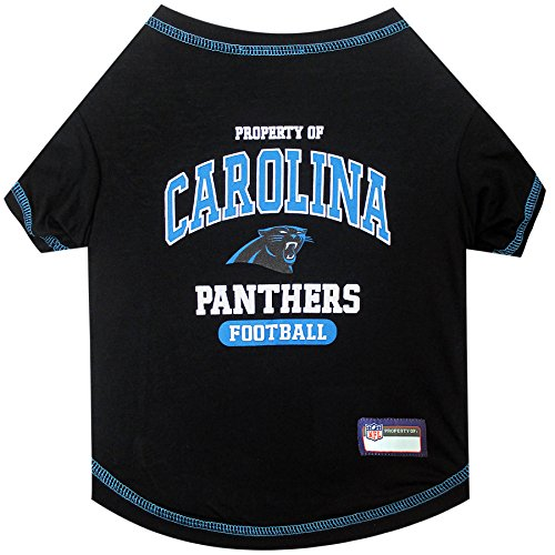 NFL CAROLINA PANTHERS Dog T-Shirt, Medium. - Cutest Pet Tee Shirt for the real sporty pup