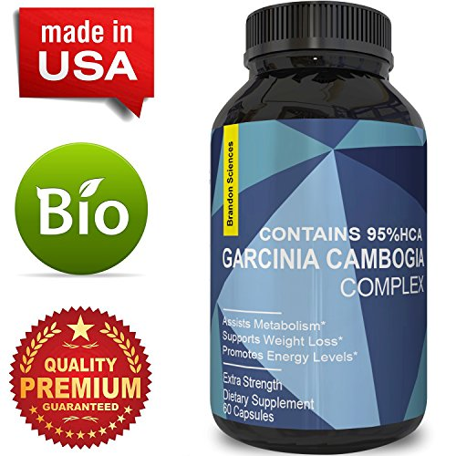 Garcinia Cambogia Extract 95% Supplement for Weight Loss & Fat Burn Natural Metabolism Booster Fast Acting Diet Pills for Men and Women Appetite Suppressant Pure Energy Support