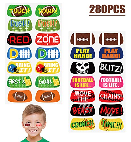 Football Game Face Temporary Tattoos Stickers - Party