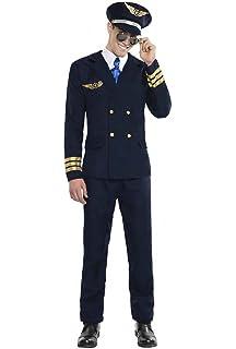 Disfraz de Piloto de Avión Talla M/L: Amazon.es: Juguetes y juegos
