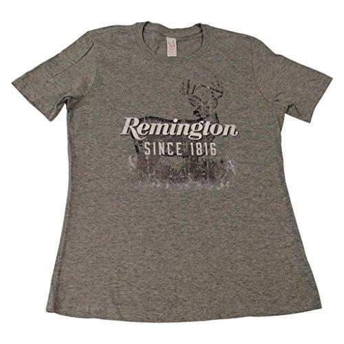 (Remington Womens Buck Caught Logo Short Sleeve T-shirt)