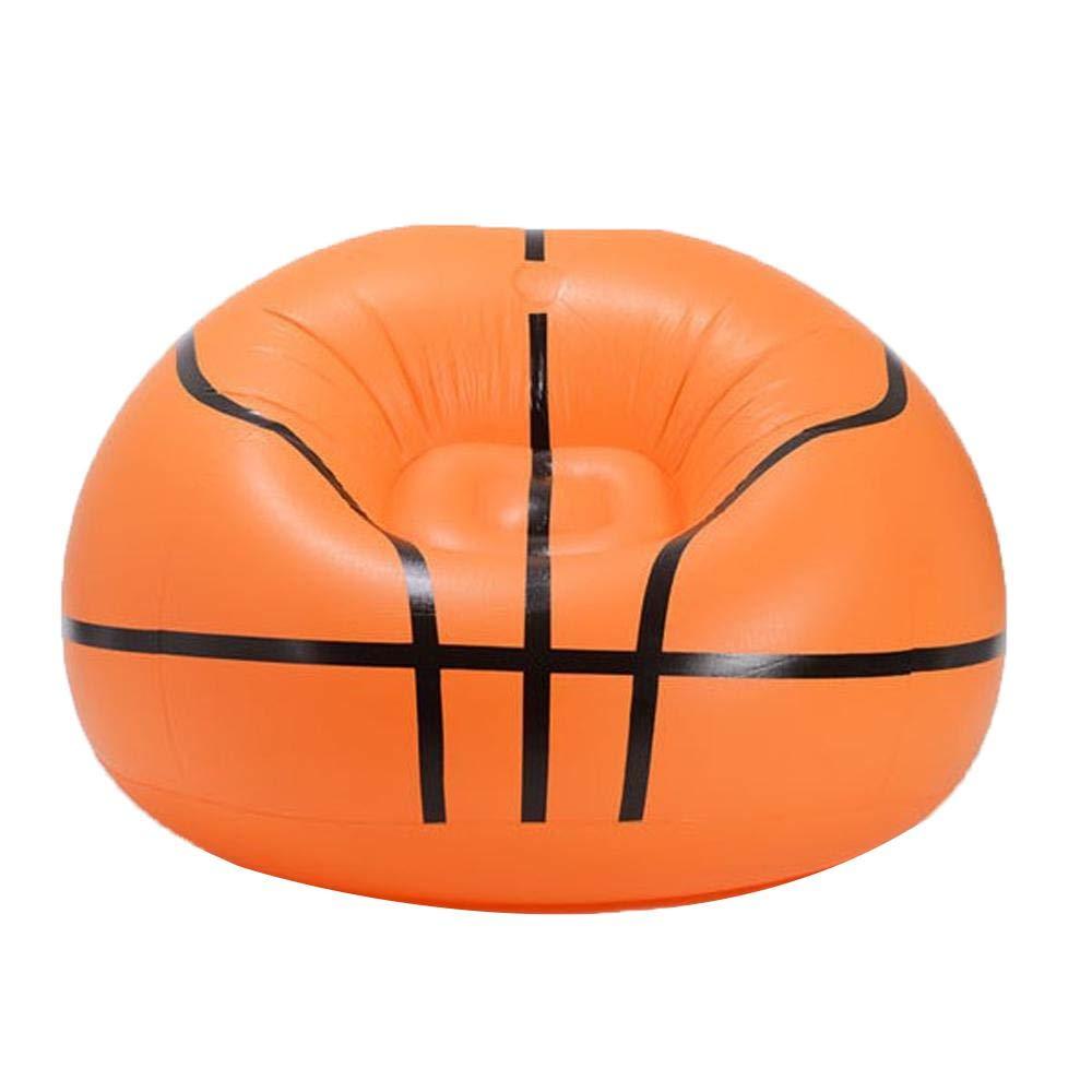 Womdee Inflatable Lounge Sofa, Creative Basketball Waterproof Anti-dust Air Single Chair for Backyard, Camping, Swimming Pool, Home, Lakeside, Beach, Picnics, 43.31X 31.5 Inches