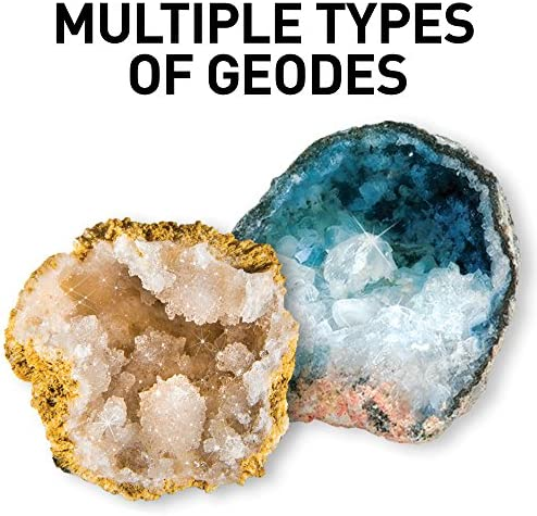 Break Open 10 Premium Geodes Crystal National Geographic Display Stand Goggles