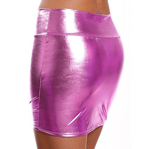 Dünne Solide Damenmode Jiuzhou Wäsche Minirock Frauen Heiß Gerader Hinterteile Rock Rosa Kunstleder Kurzer wgpBUxpqC