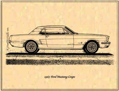 1965 Ford Mustang Hardtop Art Print
