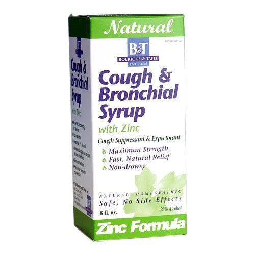 Boericke and Tafel Cough and Bronchial Syrup with Zinc, 8 Fluid Ounce