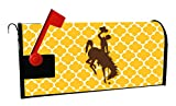 WYOMING COWBOYS MAILBOX COVER-UNIVERSITY OF WYOMING MAGNETIC MAIL BOX COVER-MOROCCAN DESIGN