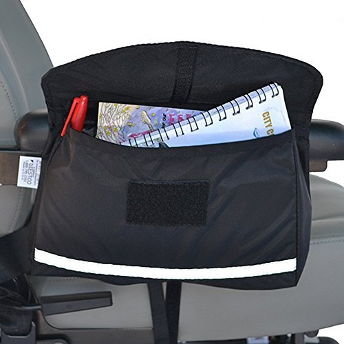 Mobility Saddlebag for Wheelchairs, Power Chairs & Scooters 10 x 8 x 2 by Discount Wheelchair Ramps.Com ()