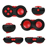 Fidget-Pad, aFidget Game-Pad Design Fidget-Desk Toy. Children Kids & Adults Stress Relief ADHD (Red)