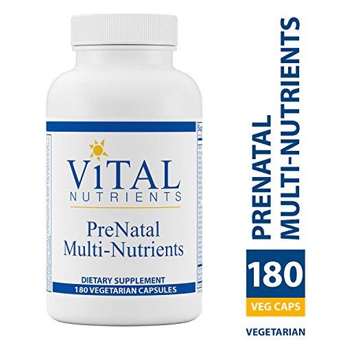 - Vital Nutrients - PreNatal Multi-Nutrients - Women's Multi-Vitamin/Mineral Formula With Potent Antioxidants - 180 Vegetarian Capsules per Bottle