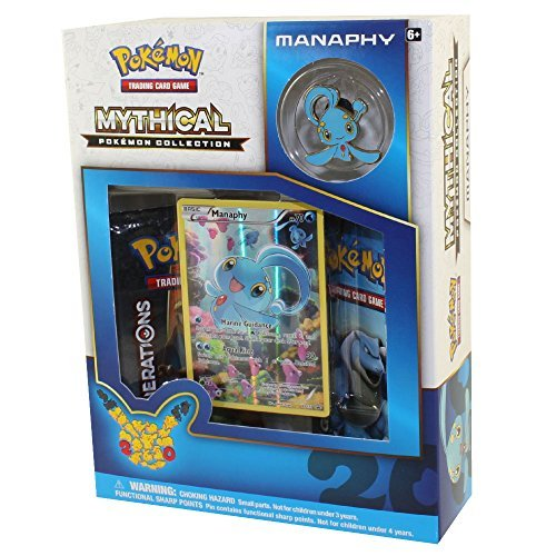Booster Generations (Pokemon Manaphy Mythical Collection Generations Booster Box Set - 2 booster packs + more!)
