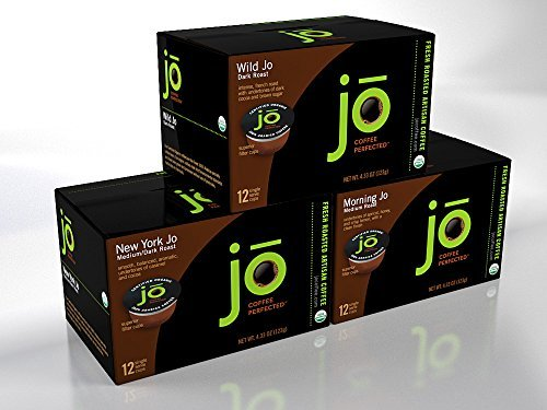 SINGLECUP JO VARIETY PACK: 36 Cup Single Serve Coffee Pods for Keurig K-Cup Brewers Keurig 1.0 & 2.0 Eco-Friendly Cup Great coffee gift! Includes Wild Jo New York Jo Morning Jo [並行輸入品]   B07N4LMSQ9