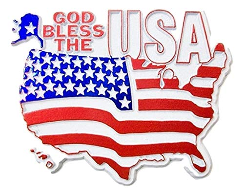 Flag Refrigerator Magnet - God Bless the USA Flag Fridge Magnet