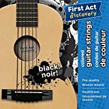 First Act Discovery Best Acoustic Guitar Strings Premium Steel and Bronze Pack - Colored Black .010-.046