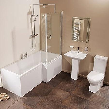 Veneto Verona Right Hand Shower Bath Suite: Amazon.co.uk: DIY & Tools