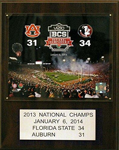 Bcs Football Champions - NCAA Florida State Seminoles Football 2011 BCS National Champions Plaque, 12 x 15-Inch