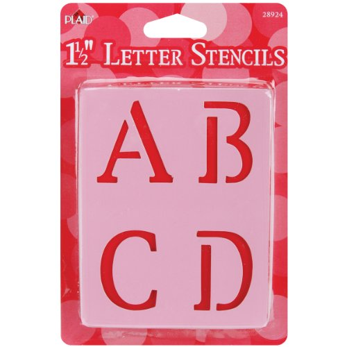 Plaid Letter Stencil Value Pack (1-1/2-Inch), 28924 Old School
