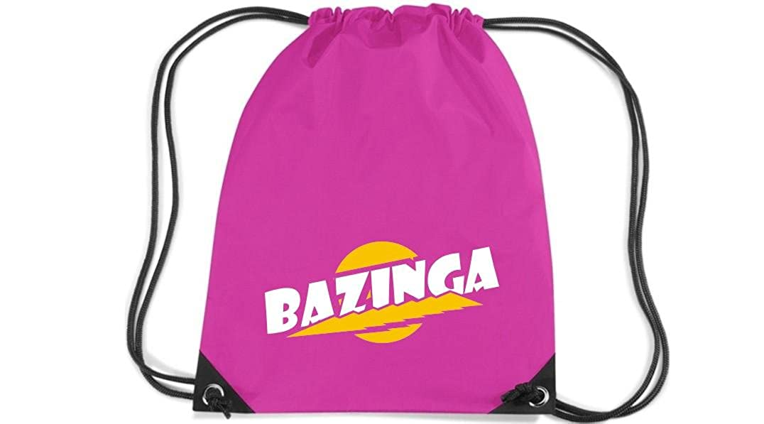 Premium gymsac Bazinga, blanco
