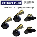 Patriot Brass LED Waterproof Pond and Landscape Lighting Fixture ONLY Kit PF-C3
