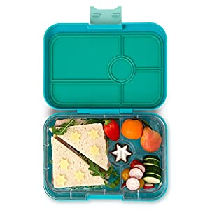 yumbox tapas larger size antibes blue 4 compartment leakproof bento lunch box for. Black Bedroom Furniture Sets. Home Design Ideas