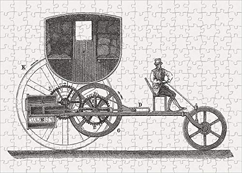 Media Storehouse 252 Piece Puzzle of London Steam Carriage, 1801, by Richard Trevithic, published in 1877 (19059509)