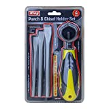 KING Punch and Chisel Set, Punch and Chisel with Punch Holder (3-PC Set)