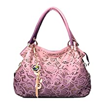 Flada Ladies Leather Hobo Handbags Clearance Tote Bags Purses for Women Pink