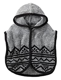 Carter's Little Girls' Heathered Knit Hooded Poncho Sweater