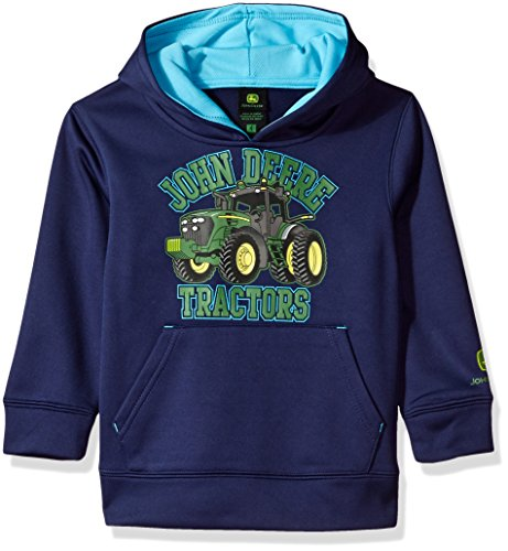 John Deere Fleece - John Deere Little Boys' Fleece Hoody Pull Over Poly, Navy, 4