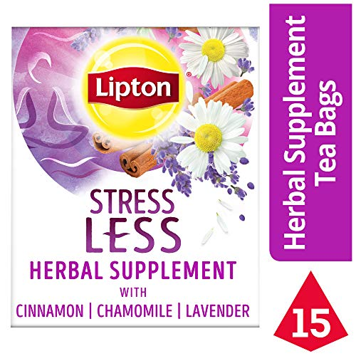 Lipton Herbal Supplement, Stress Less, 15 ct