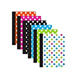 3 Pk. Polka Dot Poly Cover Personal Composition Book, College Ruled 80 Ct. 5