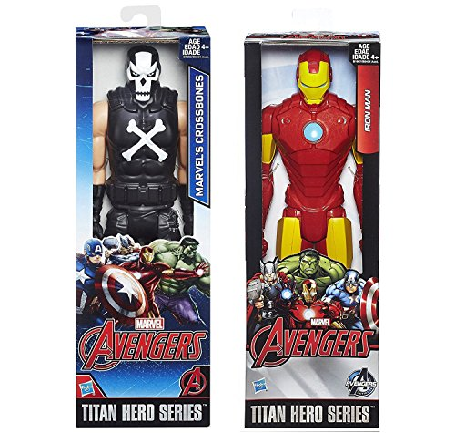 Marvel Titans Avengers 2-Pack Iron Series Crossbones + Iron-Man Hero Action Figures