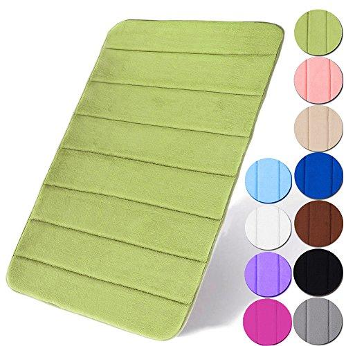 LangTi Non-Slip Memory Foam Bathmat - 2 Pack Large Size 31.5 X 19.6 Inch Coral Velvet Bath Mat